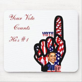Voto para Obama #2_ Alfombrilla De Ratón