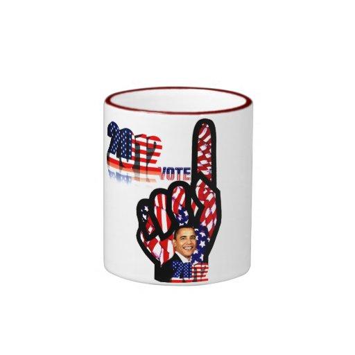 Voto para Obama #2_ Taza De Café
