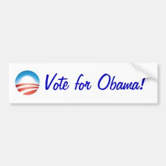 ¡Voto para Obama! Pegatina De Parachoque