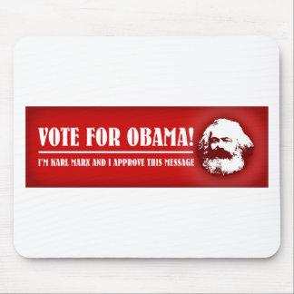 ¡Voto para Obama! Tapete De Ratón
