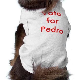 Voto para Pedro Playera Sin Mangas Para Perro