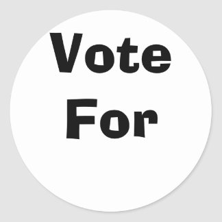 Voto para pegatina redonda
