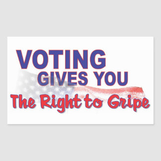 voto para que la derecha se queje rectangular altavoz