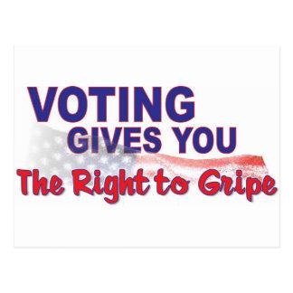 voto para que la derecha se queje postales