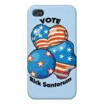 Voto para Rick Santorum iPhone 4 Protectores