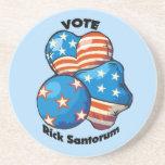 Voto para RIck Santorum Posavasos Manualidades