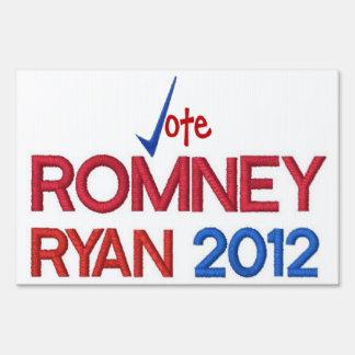 Voto para Romney Ryan muestra de 2012 yardas