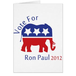 Voto para Ron Paul 2012 Felicitación