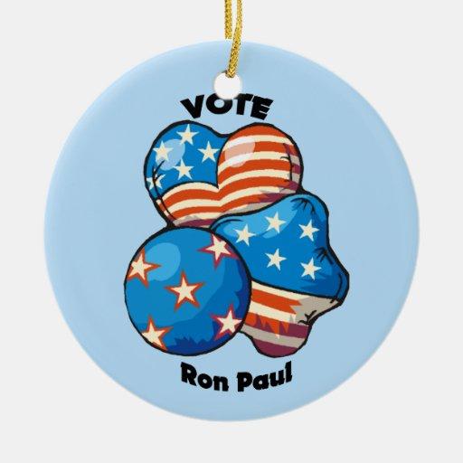 Voto para Ron Paul Ornamento Para Arbol De Navidad