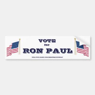Voto para Ron Paul Pegatina Para Auto