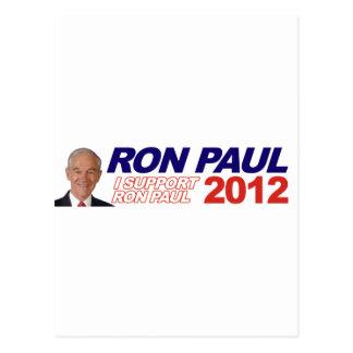 Voto para Ron Paul - presidente 2012 de la elecció Tarjeta Postal