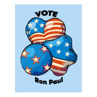 Voto para Ron Paul Tarjeta Postal