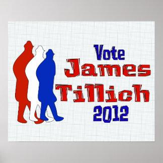 Voto para Tillich Póster