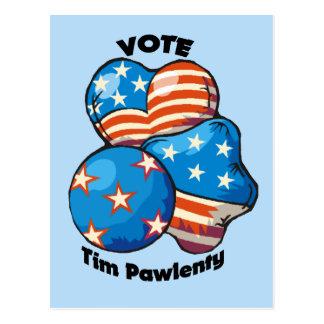 Voto para Tim Pawlenty Postal