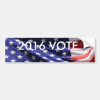 VOTO patriótico americano de la bandera 2016 Pegatina Para Auto