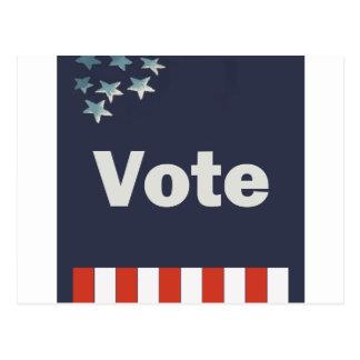 Voto patriótico tarjeta postal