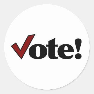 ¡Voto! Pegatina Redonda