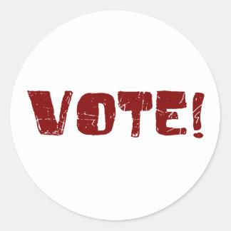 Voto Pegatinas Redondas
