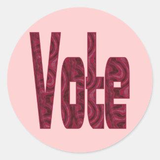 voto etiquetas redondas
