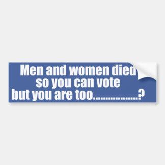 Voto Pegatina Para Auto