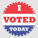 voto pegatina redonda
