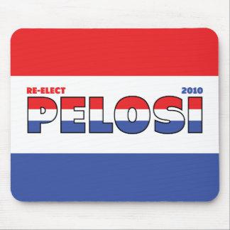 Voto Pelosi 2010 elecciones blanco y azul rojos Tapetes De Raton