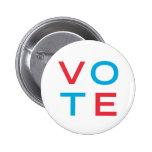 voto pin redondo de 2 pulgadas