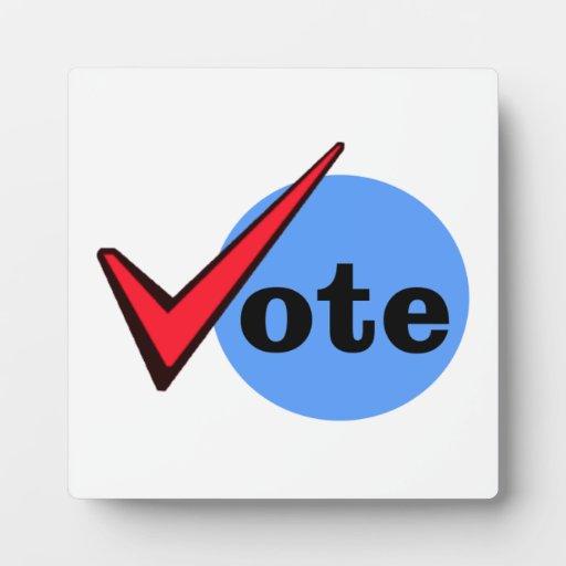 Voto Placa De Madera