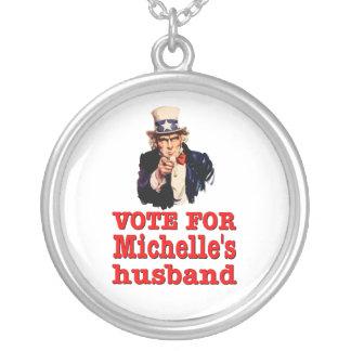 Voto político del diseño de Obama para el marido Colgante Redondo
