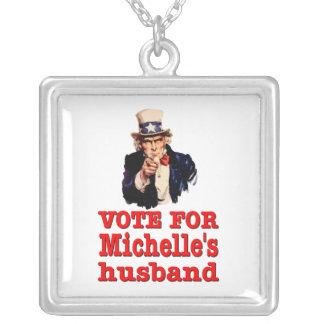 Voto político del diseño de Obama para el marido d Colgante Cuadrado