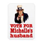 Voto político del diseño de Obama para el marido d Imán Rectangular