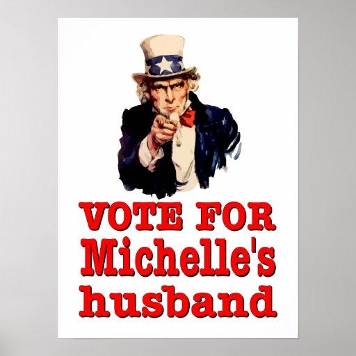 Voto político del diseño de Obama para el marido d Posters