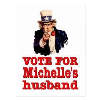 Voto político del diseño de Obama para el marido Postal
