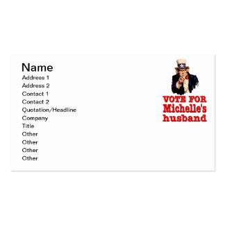 Voto político del diseño de Obama para el marido Tarjetas De Visita