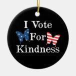 Voto por amabilidad ornaments para arbol de navidad