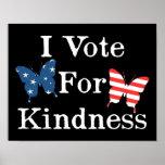 Voto por amabilidad posters