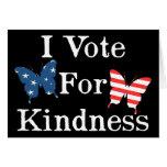 Voto por amabilidad tarjeta de felicitación