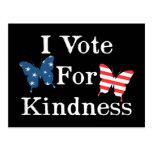 Voto por amabilidad tarjeta postal
