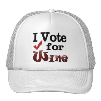 Voto por el vino gorras de camionero