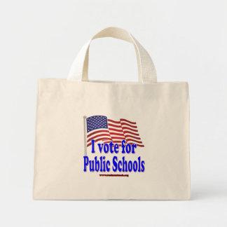 Voto por escuelas públicas bolsas