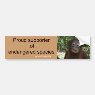 Voto por la protección de la fauna pegatina de parachoque