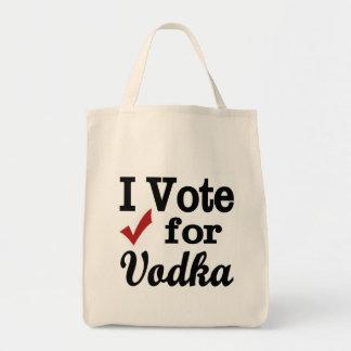 Voto por la vodka bolsa tela para la compra