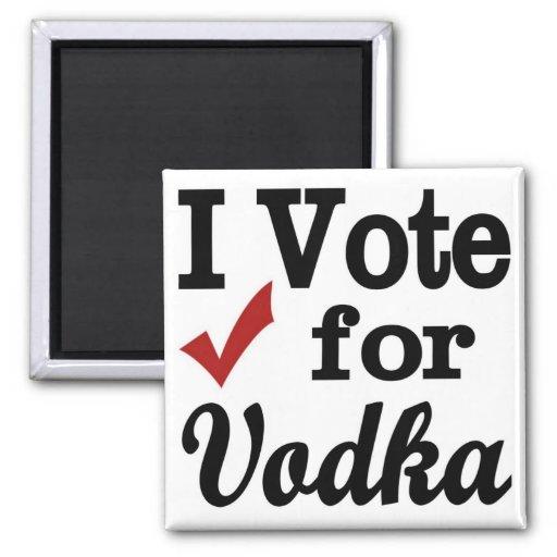 Voto por la vodka imán para frigorífico