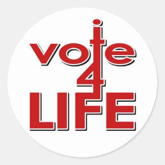 Voto por vida etiquetas