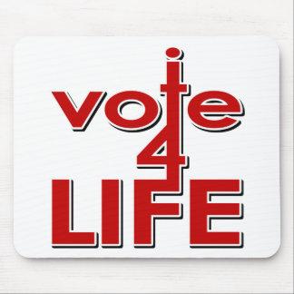 Voto por vida tapetes de ratón