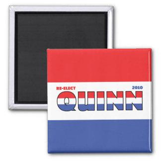 Voto Quinn 2010 elecciones blanco y azul rojos Imán Cuadrado