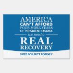 Voto real de la recuperación para la muestra de la