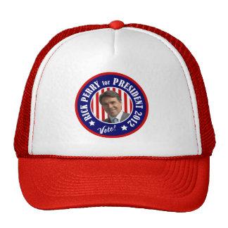 Voto Rick Perry para el presidente 2012 Gorras De Camionero