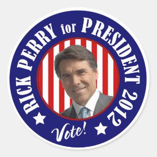Voto Rick Perry para el presidente 2012 Pegatinas