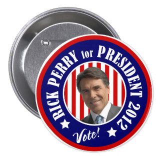 Voto Rick Perry para el presidente 2012 Pin Redondo De 3 Pulgadas